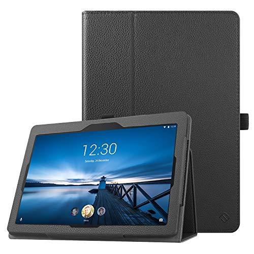 Fintie Hülle für Lenovo TAB E10 TB-X104F / Lenovo Tab 4 10 / Lenovo Tab 4 Plus 10 - Folio Schutzhülle mit Standfunktion für Lenovo 10.1-Inch Tablet, Schwarz