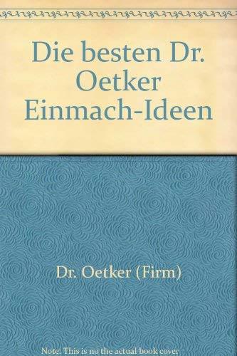 Die besten Dr. Oetker Einmach- Ideen