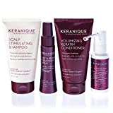 Keranique Hair Regrowth System – 30 Days - Keratin Amino Complex - Free of Sulfates, Dyes and Parabens, Includes Shampoo and Conditioner, Minoxidil and Lift and Repair Spray for Fine Thinning Hair
