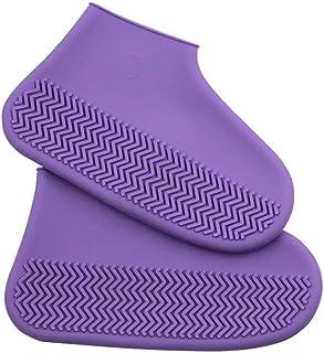 Botas de lluvia- Botas de lluvia impermeables antideslizantes antideslizantes impermeables antideslizantes de silicona para hombres y mujeres, adultos, niños, goma, látex, fundas de zapatos