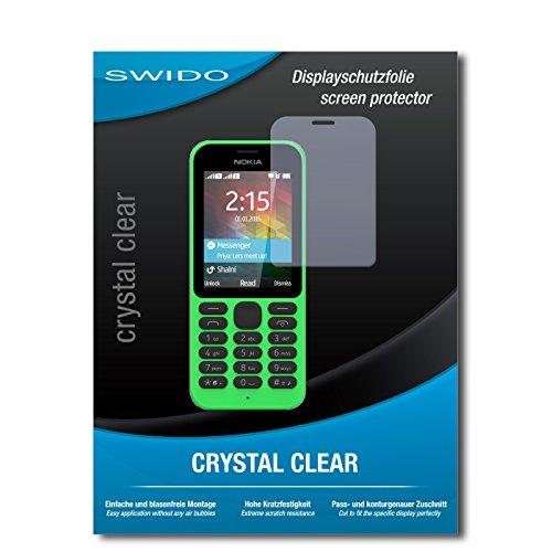 SWIDO Bildschirmschutz für Microsoft Nokia 215 [4 Stück] Kristall-Klar, Hoher Festigkeitgrad, Schutz vor Öl, Staub & Kratzer/Schutzfolie, Bildschirmschutzfolie, Panzerglas Folie