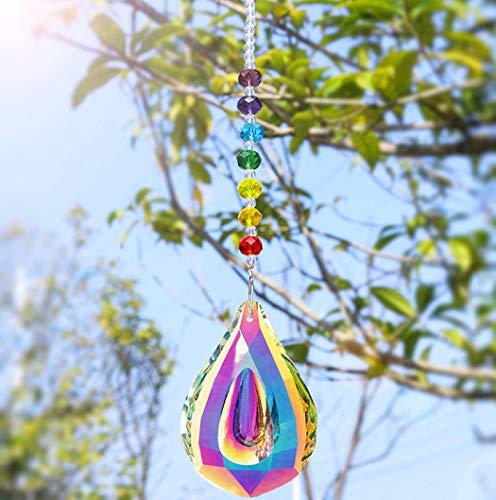 Nice Dream Atrapasueños de cristales Feng Shui para ventana con cuentas de...
