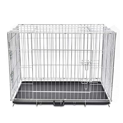 Hundekäfig,Metall Hundebox Faltbare Hundekäfig mit 3 Türen fur Hund Katzen Hasen Nager Kaninchen Geflügel Zusammenklappbar XL 109 x 70 x 78 cm