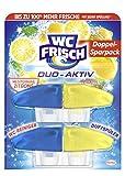 WC FRISCH Duo-Aktiv Mediterrane Zitrone, WC-Reiniger und Duftspüler, Nachfüllpack (1 x 2 Stück)