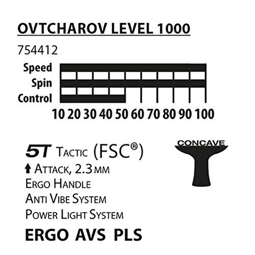 Donic-Schildkröt Ovtcharov 1000 Table Tennis Bat, AVS, PLS and Ergo-Grip, 2.3 mm Sponge, FSC Wood, Energy Pad - ITTF, 754412