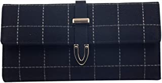 Pusaman Women's Fashion Long Paragraph Wallet, tri-fold Wallet Large Capacity (Color : Black, Size : 21 * 10.5 * 2.5cm)