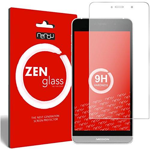 ZenGlass Flexible Glas-Folie kompatibel mit Medion Life X5004 Panzerfolie I Bildschirm-Schutzfolie 9H