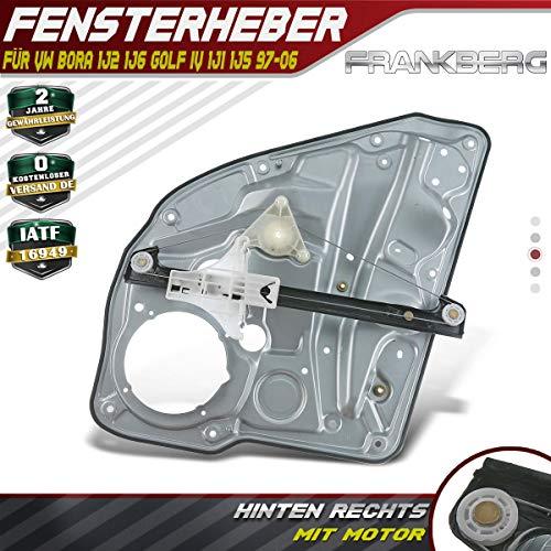 Frankberg Fensterheber Ohne Motor Hinten Rechts für Bora 1J2 1J6 Golf IV 1J1 1J5 1997-2006 1J4839462