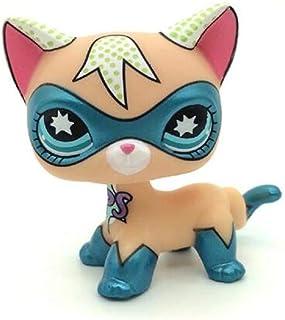 WooMax Littlest Pet Shop LPS rzadka zabawka superbohater krótkie włosy kotek niebieskie oczy kot komiks kolekcja conów dla...