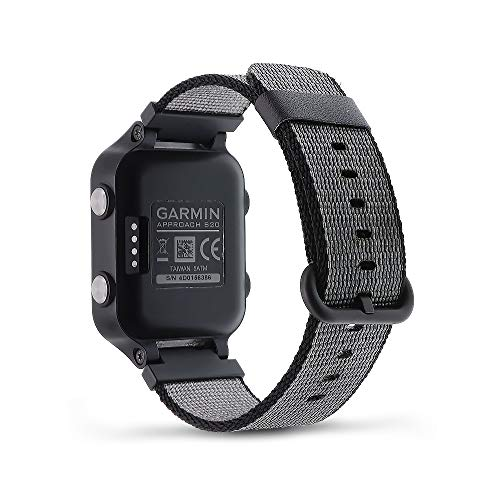 C2D JOY Woven Nylon Strap Compatible with Garmin Approach S20/S5/S6 Golf Watch Replacement Band - Small (Black)