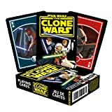 Star Wars Playing Cards - The Clone Wars Themed Deck of Cards for Your Favorite Card Games - Officially Licensed Star Wars Merchandise and Collectibles - Poker Size with Linen Finish