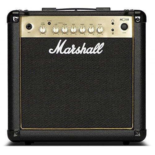 Marshall MG15GR – 15 W Schwarz und Gold Combo Gitarre mit Feder-Reverb