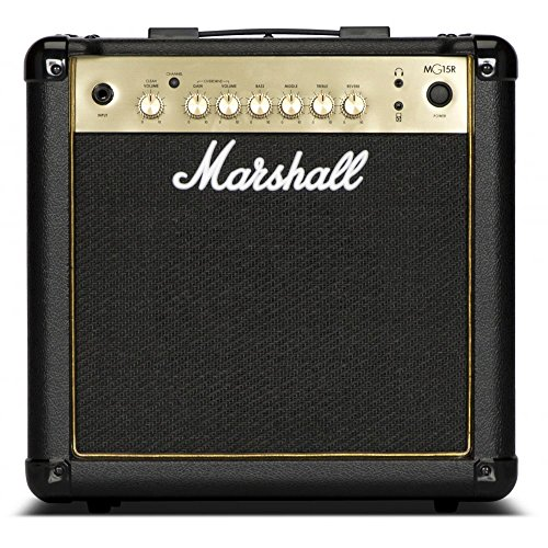 Marshall MG15GR - 15W Black and Gold Combo Guitar w/Spring Reverb