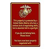 Property Protected by Marine USMC Marine...