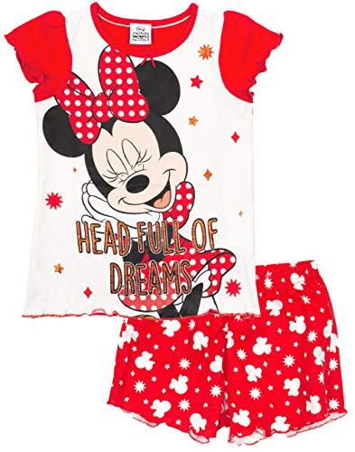 Disney Minnie Mouse Pijamas Camiseta Pantalones Cortos para niñas Pijama PJ Set...