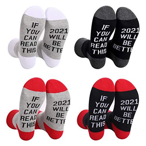 Dan&Dre 4 Paar Neuheit Socken für Frauen, Neuheit Baumwollsocken für Weihnachten, Valentinstag und Four Seasons Party...