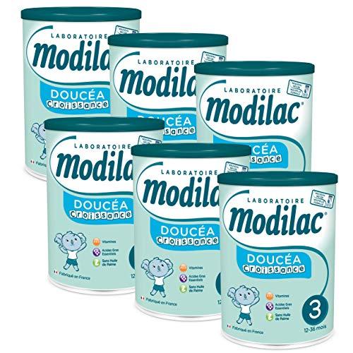Laboratoire Modilac - Lait Infantile en Poudre Doucéa Croissance - 12-36 mois - 800g - Lot de 6