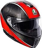 AGV Sports Modular Aero Carbone/Rouge Moto Casque Taille 58