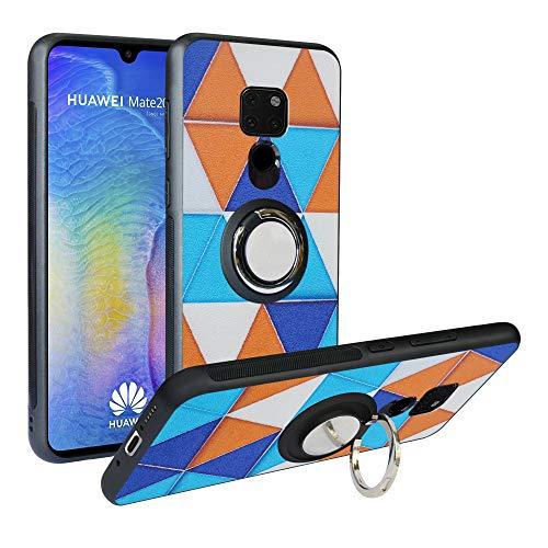 Funda para Huawei Mate 20, Fashion Design [Antigolpes] con 360 Anillo iman Soporte, Resistente a los arañazos TPU Funda Protectora para Huawei Mate 20,Triangle