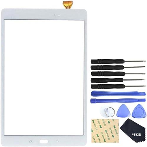 VEKIR Touch Repair Écran en Verre pour Samsung Galaxy Tab A 10.1 (2016) T580(Blanc)