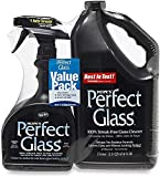 Hope's Perfect Glass Cleaner, 2 Piece, 32 Ounce Spray Bottle and 67.6 Ounce Refill Bottle