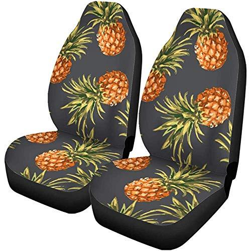 Feeling-Right Autositzbezüge Blue Hawaii Ananas Muster Vintage Hawaiian Luau Aloha Jungle Auto Zubehör Protektoren Car Decor