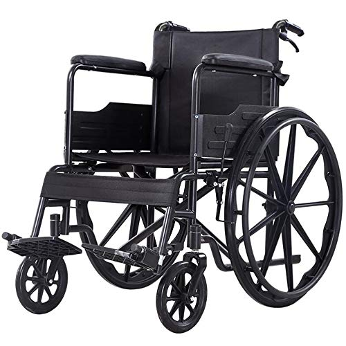 Leichtklappselbst Propel Rollstühle Tragbare Falten Rollstuhl, Senioren / Behinderte Roller Transport Rollstuhl Carbon Steel Handbremse mit Verschluss Abnehmbare Pedal Wankstützeinrichtung Rollstuhl-S