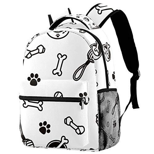 Rucksack mit Fressnapf und Spielzeug für Hunde, Schultasche, Büchertasche, Wanderrucksack, Reiserucksack