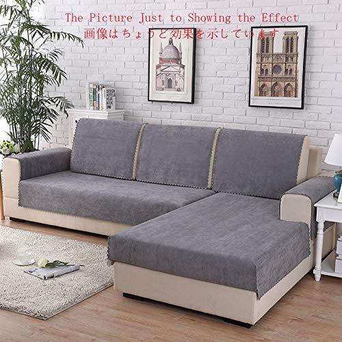YEARLY Impermeable Funda de sofá, Felpa Corta Funda para sofá Mascota Funda Cubre sofá Color sólido Moderno Antideslizante Funda de sofá Sólo 1 pc-Gris 70x50cm(28x20inch)