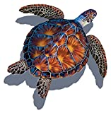 Sea Turtle Porcelain Swimming Pool Mosaic (26' x 26' with Shadow, Brown)