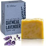 Organic Oatmeal Lavender Bar Soap - Made with Organic Essential Oils - Handmade (Oatmeal Lavender)