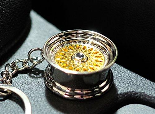 VmG-Store BBS Style Gold Felge Schlüsselanhänger - massiver Anhänger OEM VAG Dub