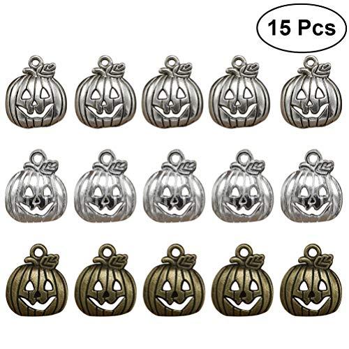Healifty baumeln Armband Halskette antike anhänger heiligen lächeln Jack o Laterne anhänger für Halloween DIY jewery 15 stücke