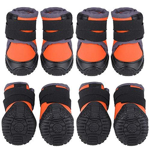 Hondenschoenen, modieuze buitensporten, antislip waterdichte laarzen voor hondenpuppies (45# oranje)