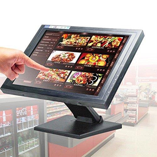 HanseMay - Monitor touchscreen da 15', risoluzione 1024 x 768, VGA, per locali, ristorante, bar pub