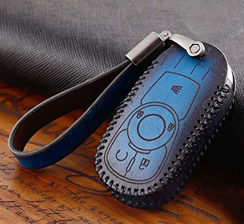 Roki-X Leather Car Key Case Cover Suitable For Buick Envision Vervno GS 20T 28T Encore NEW LACROSSE Opel Astra k Ring Accessories (Color Name : J Brown)