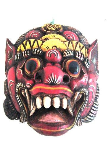 Mascara de madera balinesa decoración