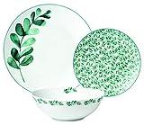 TEX - Vajilla Porcelana Aracena 18 Piezas Decorada