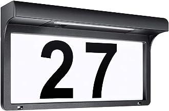 LeiDrail Solar Huisnummerplaten Verlichte deurnummers Borden Modern Aangepast Decoratief adresbord Naambord Buiten Tuin LE...