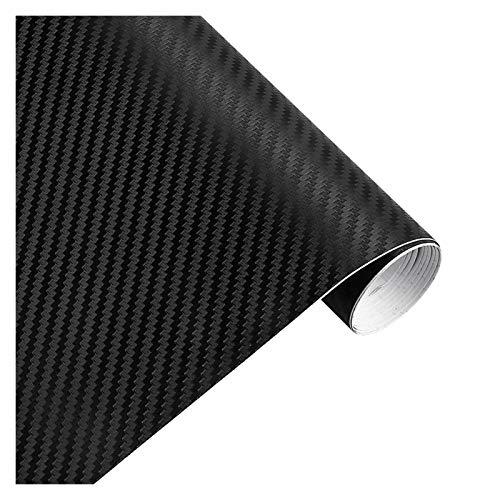 Carbon Folie 30x127cm 3D-Carbon-Faser-Vinylfilm-Auto-Aufkleber wasserdicht Auto-Styling-Verpackungs-Auto Fahrzeug-Pflege Auto-Zubehör Motorrad Folie Auto (Color Name : Black)