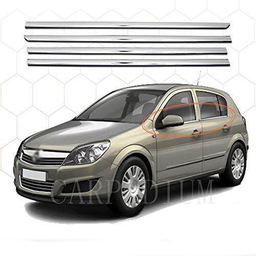 Chrome Fensterrahmen-Zierleiste, Edelstahl, für Opel Astra H HB 2004–2010, 4 Stück
