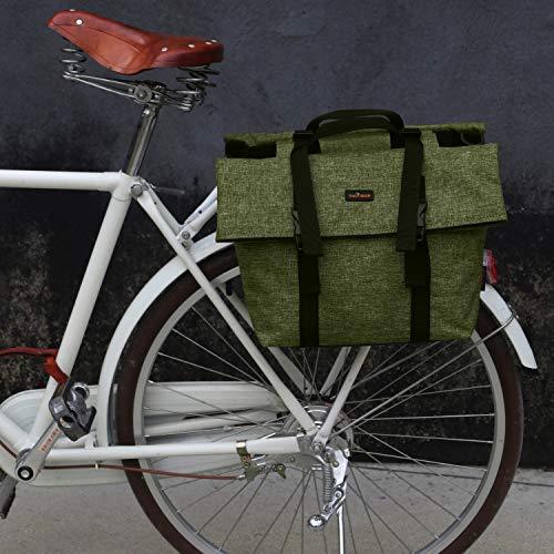 TOURBON Nylon Double Pannier Shoulder Bags Bicycle...