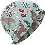 Mamihong Gorros de Punto de Invierno Gorro de Calavera con Gorro para niñas, Menta navideña con Cresta China