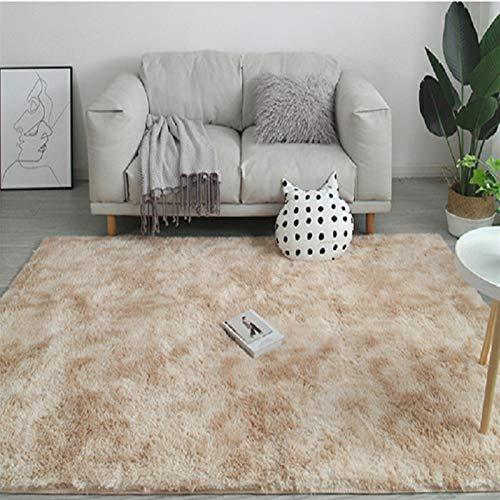 jidan Superweicher Teppich, rutschfest, strapazierfähig, wasserabsorbierend, Regenbogen-Teppich, Batikfärbung, Plüsch, weiche Teppiche für Wohnzimmer, rutschfeste Bodenmatten Schlafzimmer