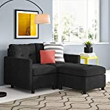 Sectional Sofa Set 52' Small Loveseat with Reversible Ottoman...