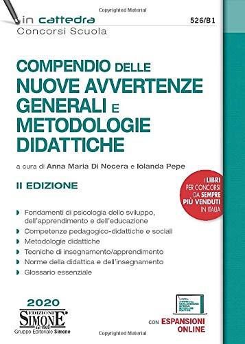 Compendio delle nuove Avvertenze Generali e Metodologie didattiche