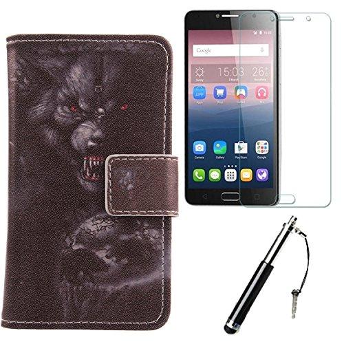 Lankashi Bear 3in1 Set PU Flip Leder Tasche Für Alcatel Idol 4S 6070K 5.5