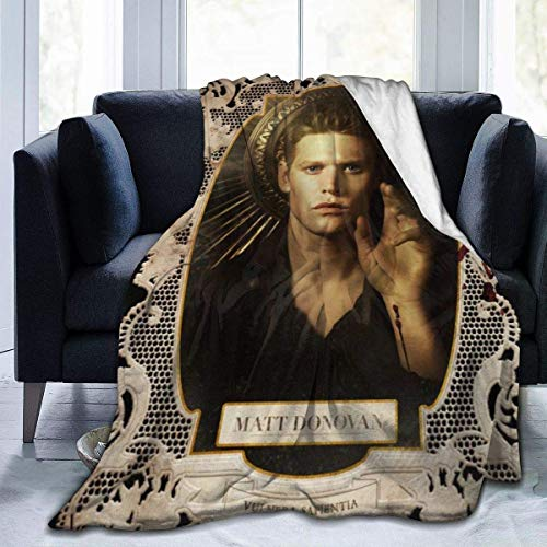 Lawenp LiYang The Vamp-ire Dia-ries Flannel Throw Blanket Ultra Soft Bedspread Microfiber Blanket Durable Home Decor Perfect for Couch Bed 60x50 inch