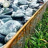 Jardinando Bordura Corten Altura 20 cm. Paquete de 10 metros lineales