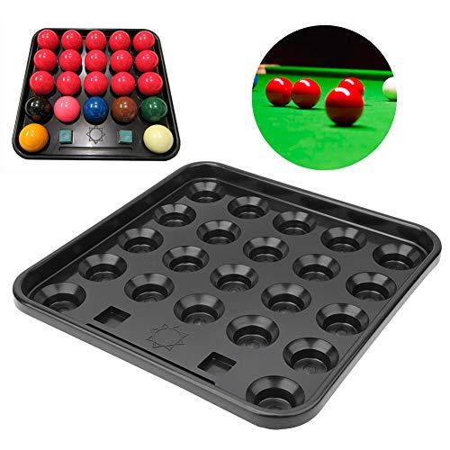 Fournyaa Aufbewahrung von Billardtischen, gut verteiltes, langlebiges 22-Ball-Tablett, Billard-Tablett, Universal aus schwarzem Kunststoff für Billardzimmer Billard-Aufbewahrung